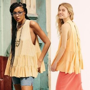 Free People Right On Time Tunic Orange S  $68.
